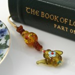 Amber Tea bookmark, book, md