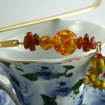 Amber Tea bookmark, cup, md