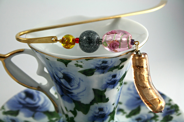 Candy Roses bookmark, cup, md