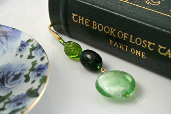 Green Apple bookmark, book, md