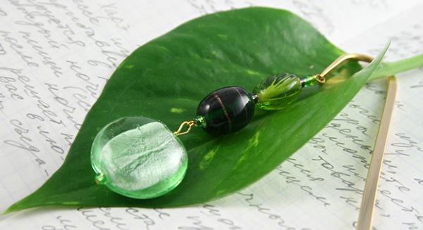 Green Apple bookmark, leaf, md