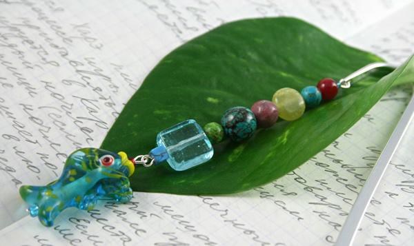 Sea Jewels bookmark, leaf, md