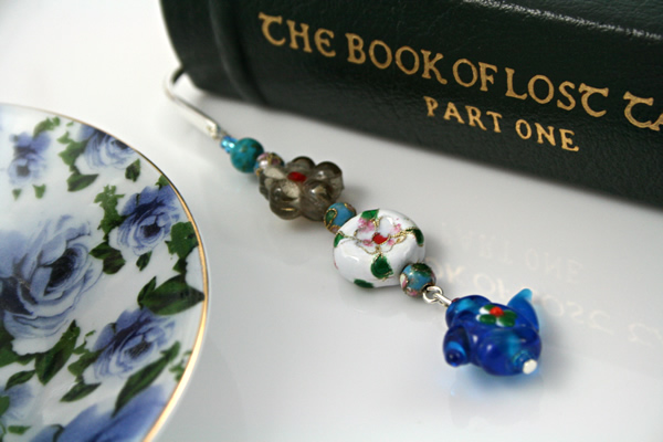 Teapot Flowers bookmark, book, md