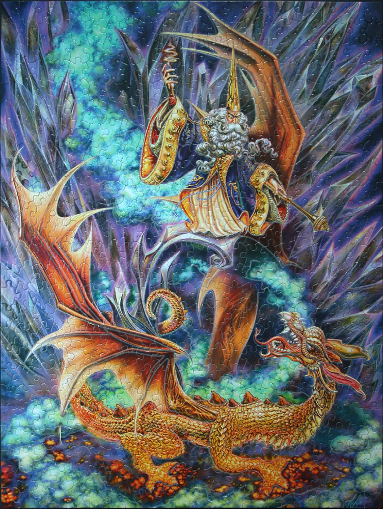 "Art by Myles Pinkney 750 Pieces, 18/"" x 24/"" Ceaco Fantasy Unicorn Puzzle"