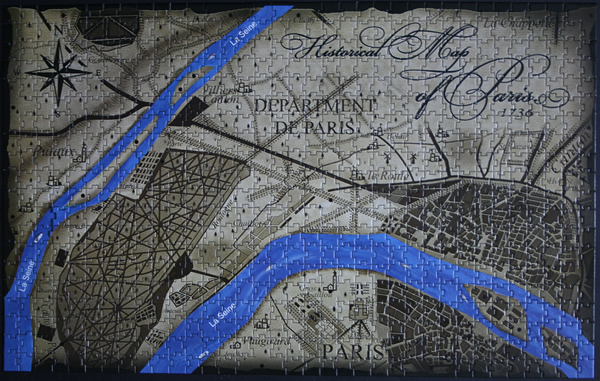 4D - Historical map of Paris, med