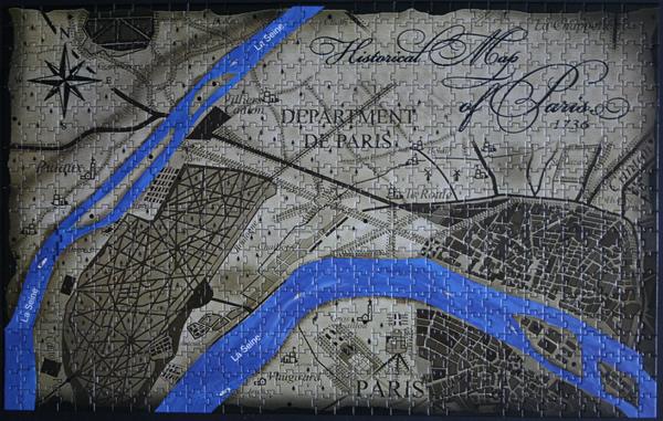 4D - Historical map of Paris, med