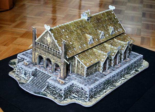 Golden Hall, Edoras, LotR, assembled angle, med