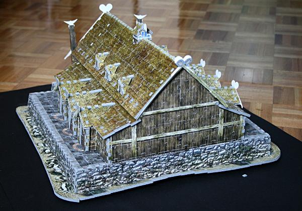 Golden Hall, Edoras, LotR, assembled back, med