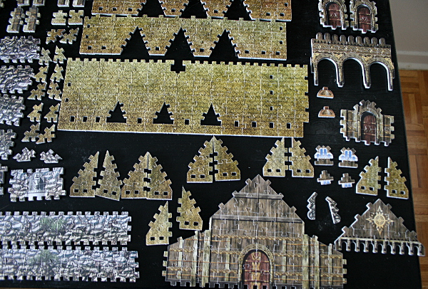 Golden Hall, Edoras, LotR, assembled pieces 1, med