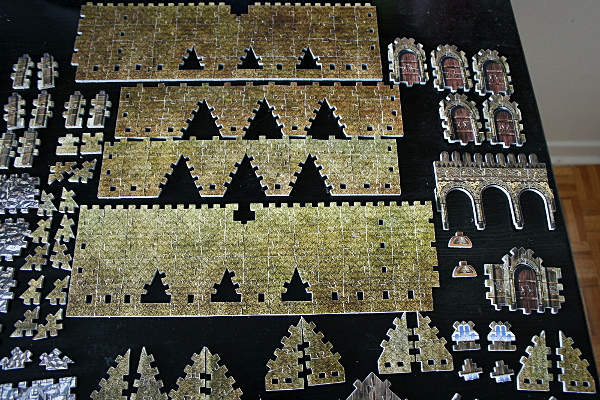 Golden Hall, Edoras, LotR, assembled pieces 2, med