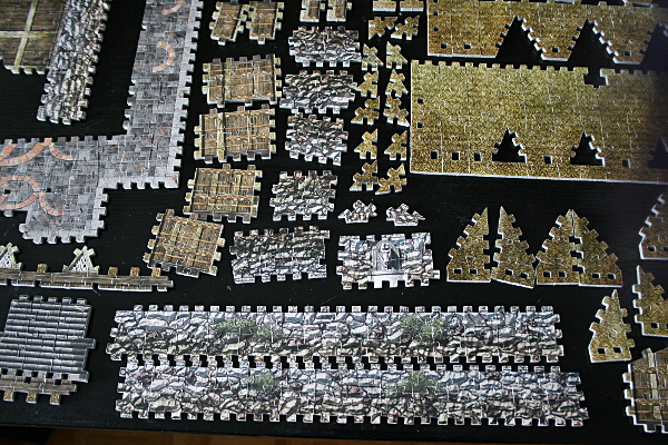 Golden Hall, Edoras, LotR, assembled pieces 3, med
