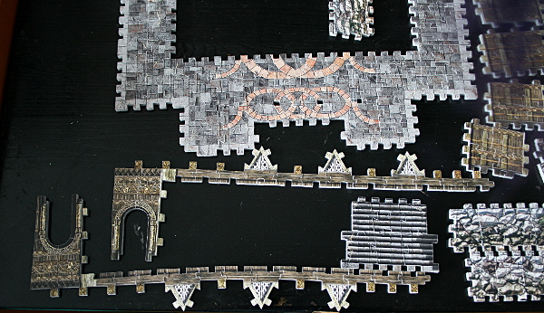 Golden Hall, Edoras, LotR, assembled pieces 4, med