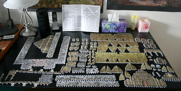 Golden Hall, Edoras, LotR, assembled pieces whole, med