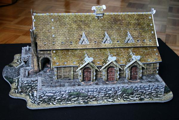 Golden Hall, Edoras, LotR, assembled side 1, med
