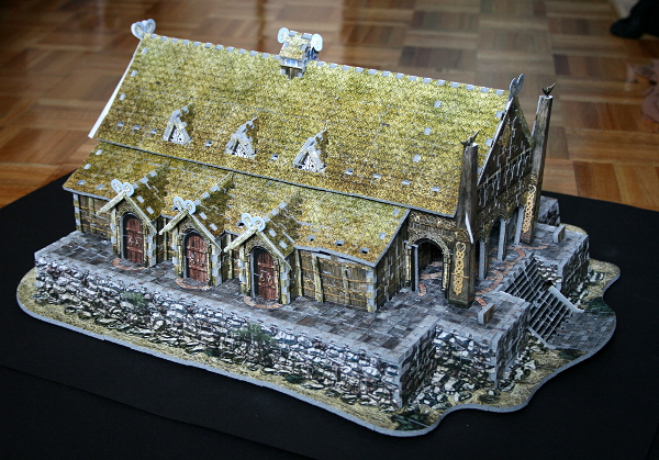 Golden Hall, Edoras, LotR, assembled side 2, med