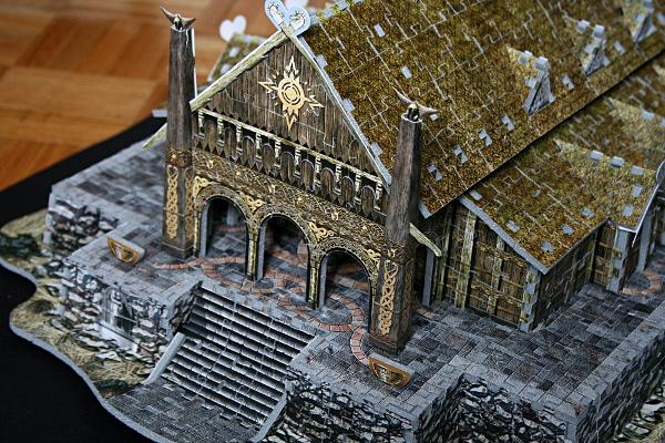 Golden Hall, Edoras, LotR, closeup, med