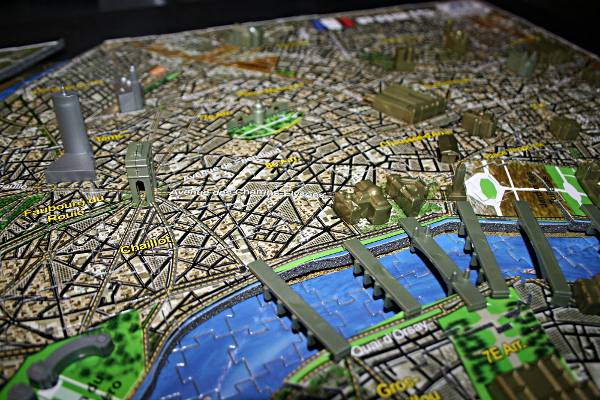 4D - Historical map of Paris, bridge closeup, med