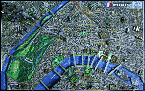 4D - Historical map of Paris, complete, med