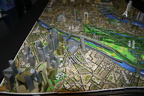 4D - Historical map of Paris, corner closeup, med