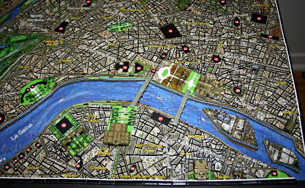 4D - Historical map of Paris, island closeup, med