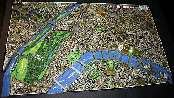 4D - Historical map of Paris, partial, med