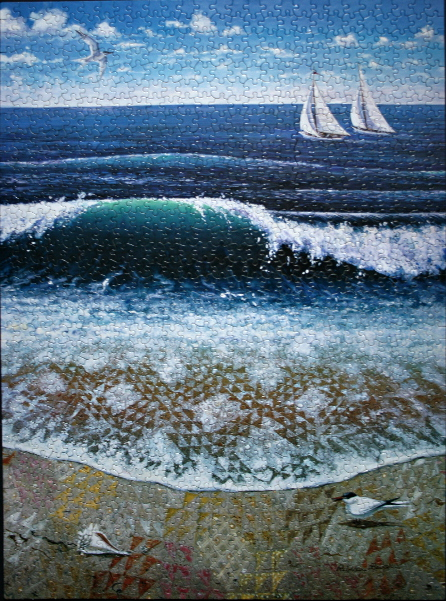 Rebecca Barker - The Oceanwaves Quiltscape, med