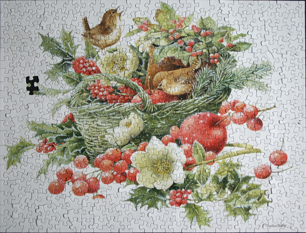 Puzzle evergreen basket by marjolein bastin fingering zen christmas bird evergreen basket med m4hsunfo Images