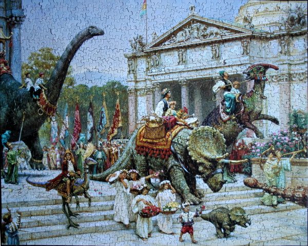James Gurney - Dinotopia - Festival of Children and Hatchlings, med