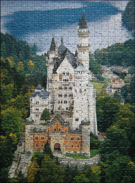 Neuschwanstein Castle, Bavaria, Germany, med