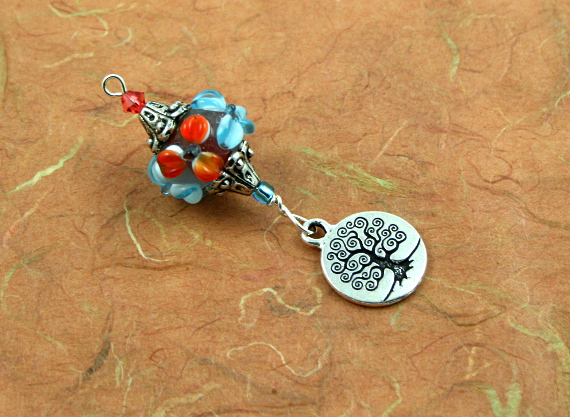 Blessingway bead - Blooms and tree of life, earth, md
