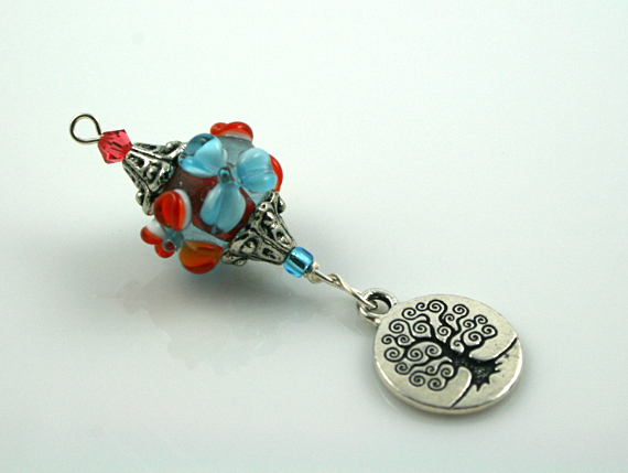 Blessingway bead - Blooms and tree of life, md