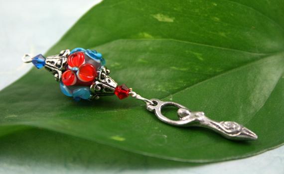 Blessingway bead blooming flower goddess, med