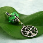 Blessingway bead emerald tree of life, med