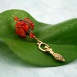 Blessingway bead fire opal goddess, med
