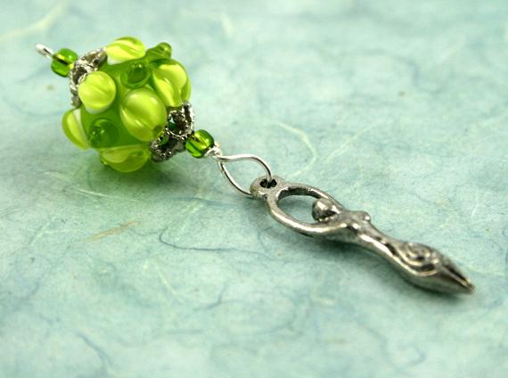 Blessingway bead spring goddess blue, med