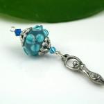Blessingway bead turquoise flower goddess, med