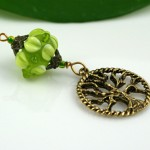 Blessingway bead young leaf tree of life, med