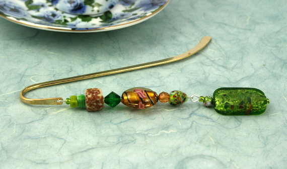 Bookmark apple candy and roses, med