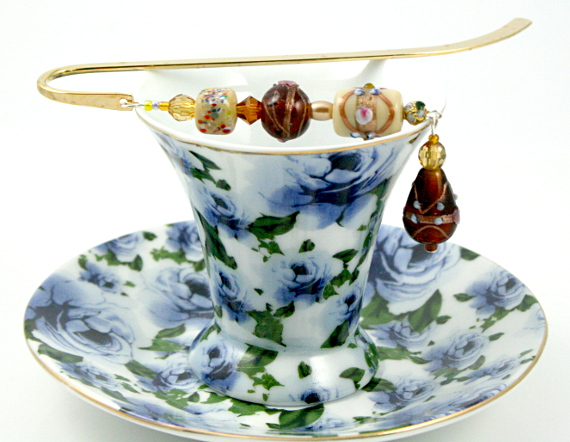 Bookmark chocolate and cream cup, med