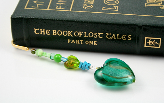 Bookmark heart of a mermaid, book, med