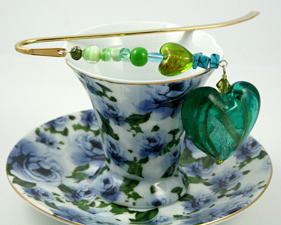 Bookmark heart of a mermaid, cup, med