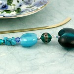 Bookmark heart of the ocean, blue, med