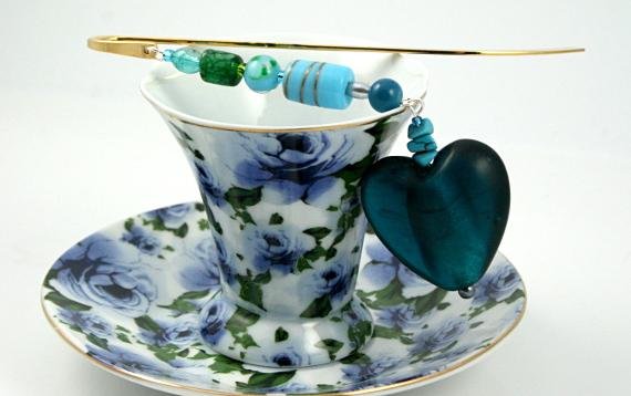Bookmark seaside heart fantasy cup, med