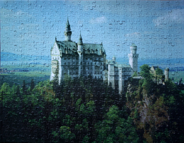 Ludwig's Castle, Bavaria, Germany, med