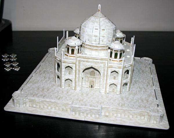 Taj Mahal, complete, med