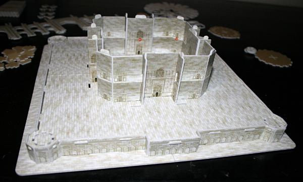 Taj Mahal, walls, med