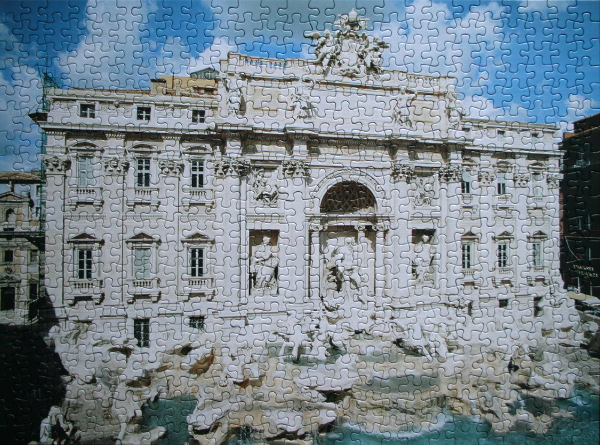 Trevi Fountain, Italy, med