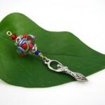 Blessingway bead - Cherry goddess, leaf, md