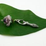 Blessingway bead - Dusty rose goddess, md