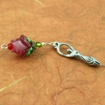 Blessingway bead - Gentle wine rose goddess, earth, md